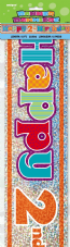 Happy 2nd Birthday Party Foil Banner